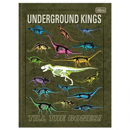 Caderno brochurão capa dura universitário 1x1 - 80 folhas - Raptor - Capa 4 - Tilibra