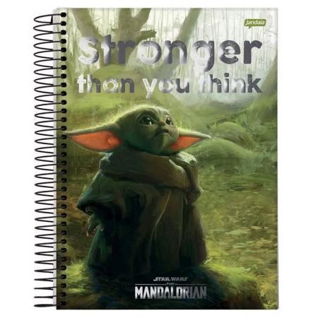 Caderno espiral capa dura universitário 10x1 - 200 folhas - Star Wars - Capa 3 - Jandaia
