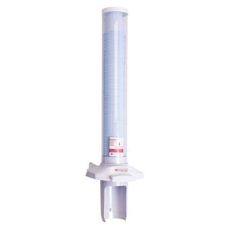 Suporte plástico copo de água PoUp copo botão - E-DPCA002M - Branco - Exaccta