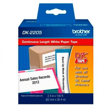 Etiqueta para impressora térmica 62x30,48mm - DK2205 - Brother