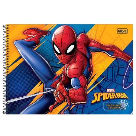 Caderno espiral capa dura cartografia - 80 folhas - Homem Aranha - Capa 2 - Tilibra
