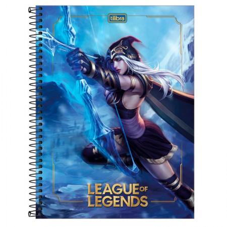 Caderno espiral capa dura universitário 1x1 - 80 folhas - League of Legends - Capa 1 - Tilibra