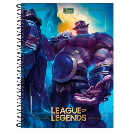 Caderno espiral capa dura universitário 1x1 - 80 folhas - League of Legends - Capa 2 - Tilibra