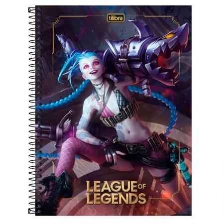 Caderno espiral capa dura universitário 1x1 - 80 folhas - League of Legends - Capa 3 - Tilibra