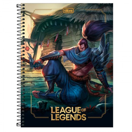Caderno espiral capa dura universitário 1x1 - 80 folhas - League of Legends - Capa 4 - Tilibra
