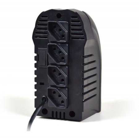 Estabilizador bivolt 300VA preto - Powerest 9001 - 4 tomadas - Ts Shara