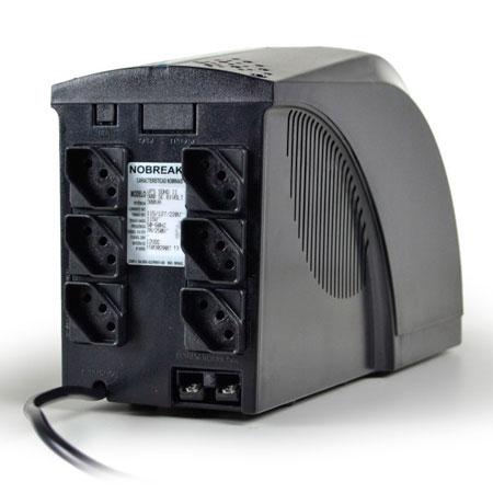 No-break 110v 800VA preto - UPS Soho II 4014 - TS Shara