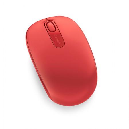 Mouse sem fio óptico U7Z-00038 vermelho - Wireless Mobile 1850 - Microsoft