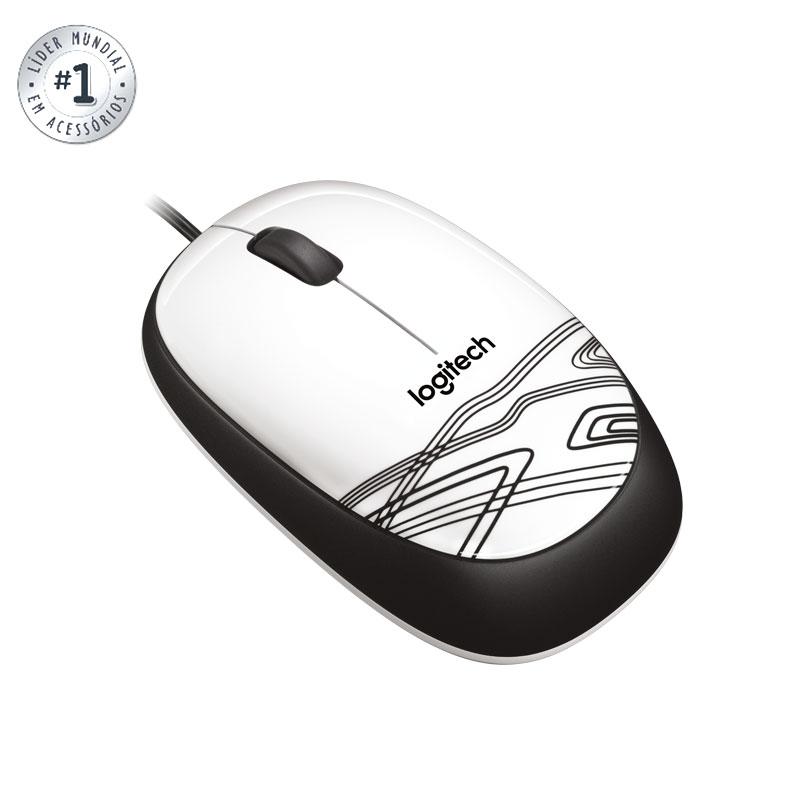 Mouse USB óptico M105 branco - Logitech