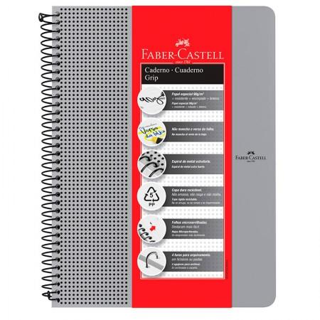 Caderno grip pautado A4 - 80 folhas - prata - CDNOFF/PT - Faber-Castell