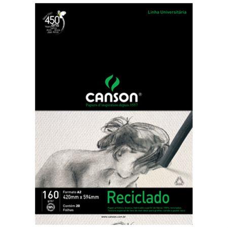 Bloco Canson reciclado A2 160g - com 20 folhas - Canson