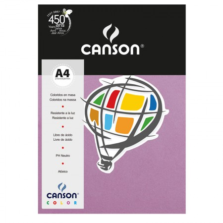 Papel Color Vivaldi A4 120g violeta - com 15 folhas - Canson
