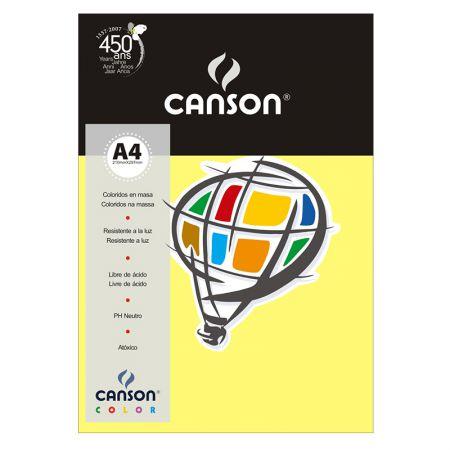 Papel Color Vivaldi A4 180g amarelo canário - com 10 folhas - Canson