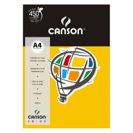 Papel Color Vivaldi A4 180g cenoura - com 10 folhas - Canson