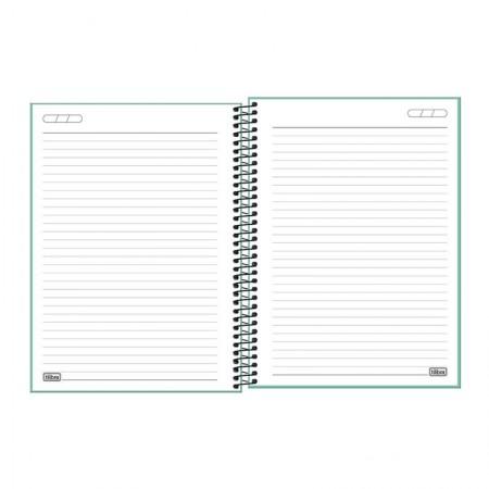 Caderno capa plástica universitário 10x1 Neon Turquesa 160 Fls - Tilibra