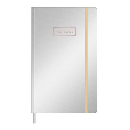Caderno costurado grande Fitto West Village metalizado - pontilhado - 80 folhas - Capa 3 - Tilibra