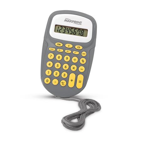 Calculadora de bolso 8 dígitos MX-C86 com cordão - Maxprint
