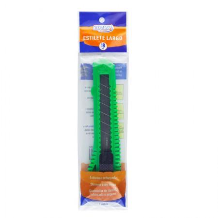 Estilete largo plástico 18mm - ES1801 - BRW