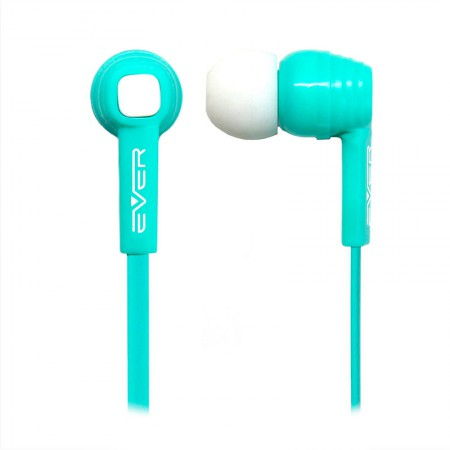 Fone de ouvido com microfone Light EVEP02M/TK - Verde Turquesa - Evertech