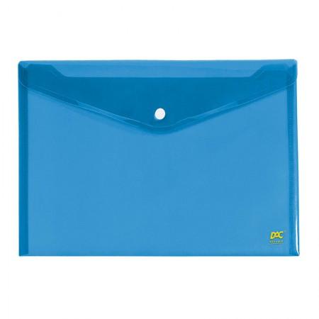 Envelope plástico com botão ofício - 645PP-AZ - Azul - Dac