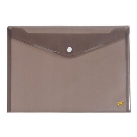 Envelope plástico com botão ofício - 645PP-FM - Fume - Dac