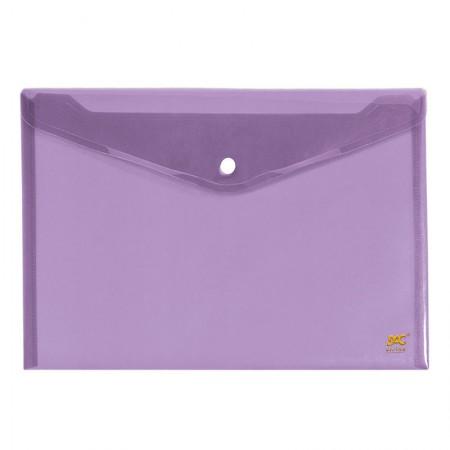 Envelope plástico com botão ofício - 645PP-LI - Lilas - Dac