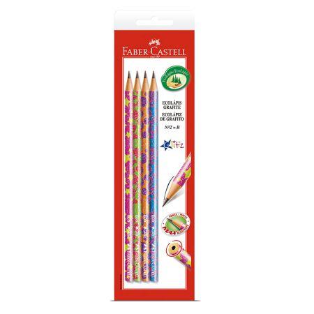 Lápis preto glitz nr 2B - SM/935GLIN - com 4 unidades - Faber-Castell