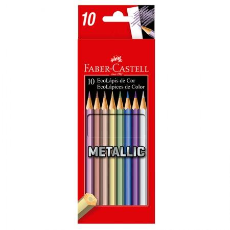 Lápis de cor 10 cores Metallic - 120410G - Faber-Castell