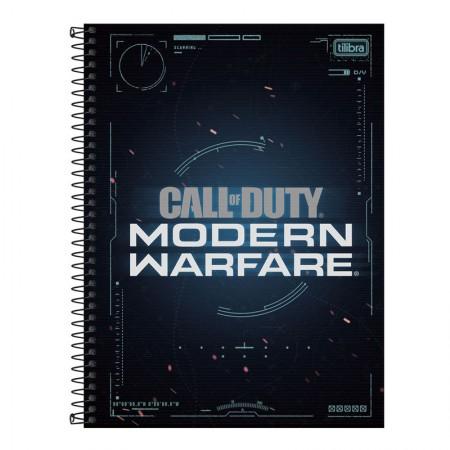 Caderno universitário capa dura 1x1 - 80 folhas - Call of Duty - Capa 1 - Tilibra
