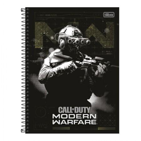 Caderno universitário capa dura 1x1 - 80 folhas - Call of Duty - Capa 2 - Tilibra