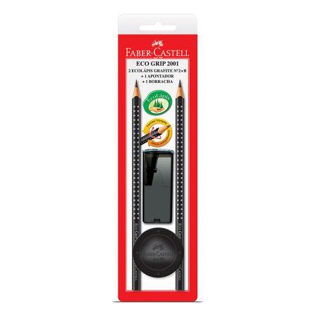 Lápis preto grip 2001 - SM/2001PRAP - com 2 unidades - Faber-Castell