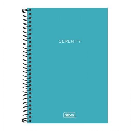 Caderno espiral capa plástica sem pauta 1/4 - 80 folhas - Neon Azul - Tilibra