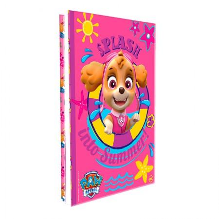 Pasta catálogo sem visor - 2646 - Patrulha Canina Rosa - com 10 envelopes plásticos - Dac