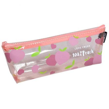 Estojo escolar com ziper - E215 - Pêssego - Love fresh 100% Peachy - Dac