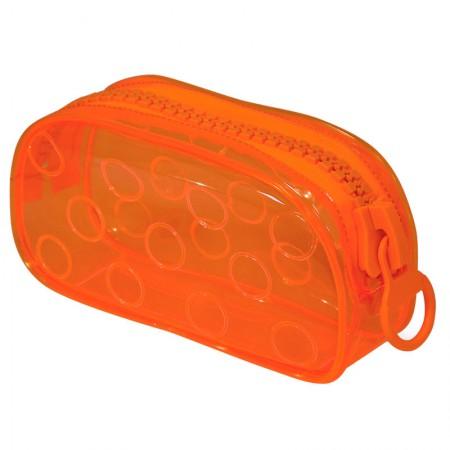 Estojo escolar com ziper - E191 - Bubble - Laranja - Dac