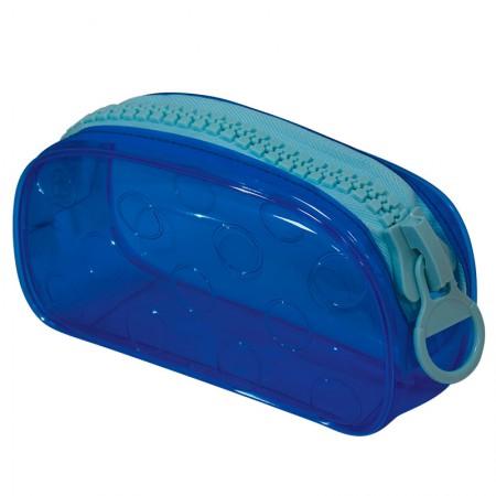 Estojo escolar com ziper - E191 - Bubble - Azul - Dac