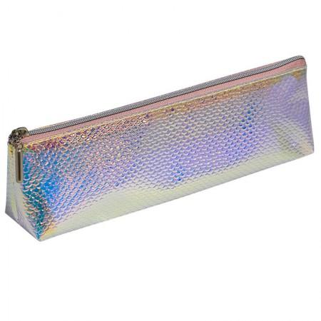 Estojo escolar com ziper - E203 - Escama Médio - Holográfico 1 - Dac