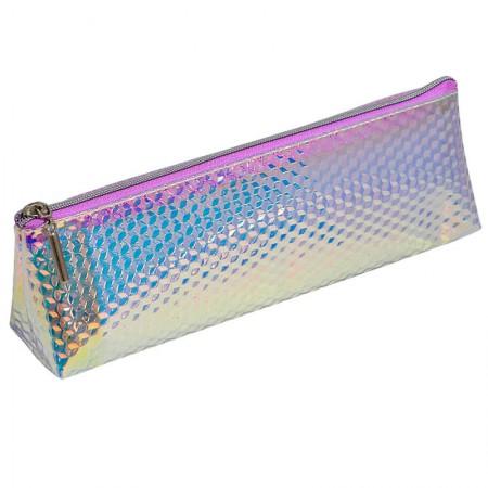 Estojo escolar com ziper - E203 - Escama Médio - Holográfico 4 - Dac