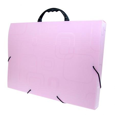 Maleta com alça Dellofine ofício - rosa - 2152.Q - Dello