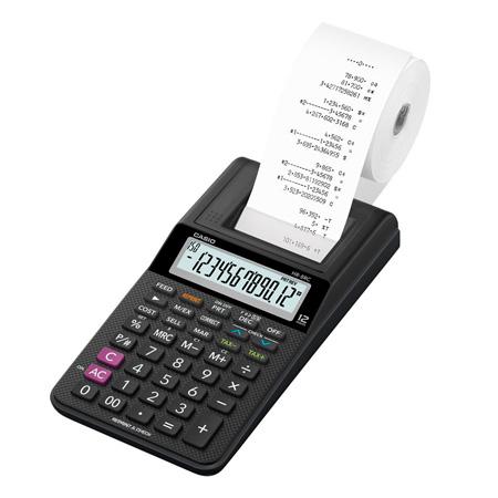 Calculadora de mesa com bobina 12 digitos - HR-8RCBK - Casio