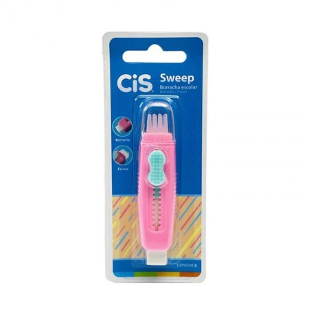 Borracha escolar Sweep - 546700 - Rosa Pastel - Cis