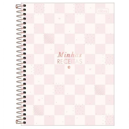 Caderno de receita espiral - Soho - 80 folhas - Azul - Tilibra