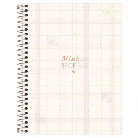 Caderno de receita espiral - Soho - 80 folhas - Rosa - Tilibra