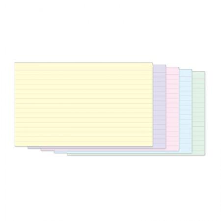 Ficha pautada colorida 5x8 - pacote com 50 folhas - Tilibra