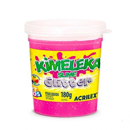 Kimeleka Art Kids com glitter 180g - Rosa 208 - Acrilex