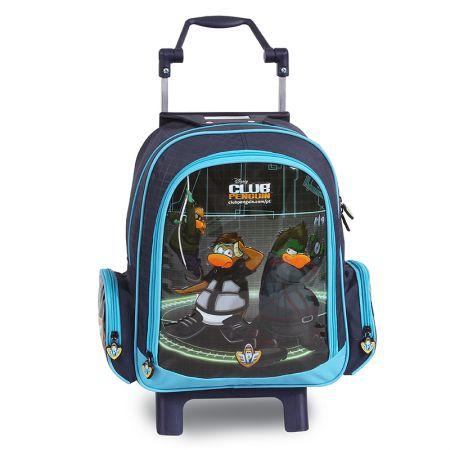 Mochila escolar com roda - 51422/15 - Club Penguin - Dermiwil