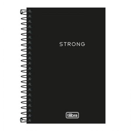 Caderneta capa plástica 1/8 Neon Preto S/P 80 Fls - Tilibra