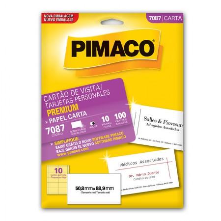 Papel cartão de visita premium card 7087 - com 10 folhas - Pimaco