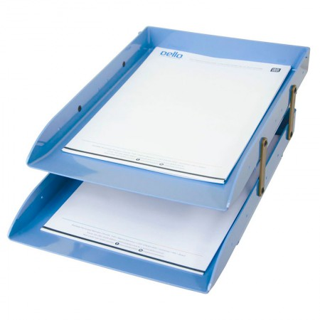 Caixa correspondência dupla articulável - Azul claro - 3043.B - Dello