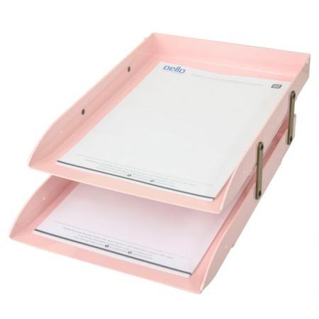 Caixa correspondência dupla articulável - Rosa - 3043.W - Dello